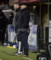12th December  2020. Danske Bank Irish premier league match between Crusaders and Portadown at Seaview Belfast. Portadowns  manager Mathew Tipton . Mandatory Credit   Inpho/Stephen Hamilton