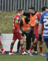 9th January 2021. Danske Bank Premiership, Solitude, Belfast . Cliftonville vs Crusaders. Cliftonville\'s  Rory Hale celebrates his goal with Joe Gormley. Mandatory Credit INPHO/Stephen Hamilton