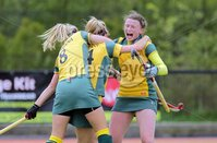 ©Press Eye Ltd Northern Ireland - 6th May 2012 - Mandatory Credit - Picture by Matt Mackey/presseye.com. Loreto v Railway Union in the Irish Hockey League final at Lisnagarvey hockey club..  Railway goal scorer Emer Lucey celebrates.