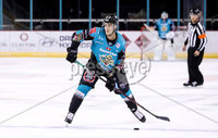 Press Eye - Belfast -  Northern Ireland - 14th September 2018 - Photo by William Cherry/Presseye. Belfast Giants\' Paul Swindlehurst with Dundee Stars\' during Friday nights Challenge Cup game at the SSE Arena, Belfast.       Photo by William Cherry/Presseye