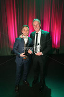 Press Eye - Belfast - Northern Ireland - 6th February 2017 -  . Belfast Telegraph Sports Awards 2016.. Carl Frampton and Michael O\'Neill.. Photo by Kelvin Boyes / Press Eye..