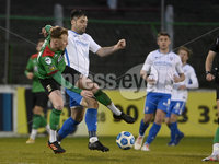 4th May 2021. Danske Bank Irish league,The Oval,Belfast.. Glentoran v Coleraine . Glentorans Caolan Marron  in action with Coleraines  Eoin Bradley. Mandatory Credit Inpho/Stephen Hamilton
