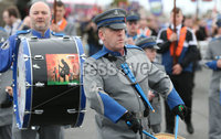 Press Eye - Northern Ireland - 18th April 2017 - Photographer - © Matt Mackey / Presseye.com. The Junior Orange Association of Ireland hold its annual Easter Tuesday demonstration in Donaghadee. . The main parade, organised by Belfast Junior County Lodge, left the Harbour Road car park and proceed through the town centre to Crommelin Park playing fields. .  . Senior officers and juniors representing three Belfast Districts, Donaghadee, and a number of other lodges from across Northern Ireland - accompanied by eight bands participated.