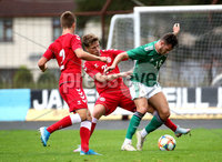 Press Eye - Belfast, Northern Ireland - 0th September 2020 - Photo by William Cherry/Presseye. Northern Ireland\'s Jake Dunwoody with Denmark\'s Carlo Holse during Tuesday nights U21 Euro Qualifier at the Ballymena Showgrounds, Ballymena.      Photo by William Cherry/Presseye