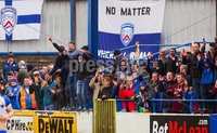 Danske Bank Premiership Play-Off, The Ballymena Showgrounds, Co. Antrim 7/4/2018 . Coleraine vs Cliftonville. Coleraine fans. Mandatory Credit ©INPHO/Freddie Parkinson