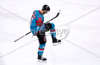 Press Eye - Belfast -  Northern Ireland - 10th March 2018 - Photo by William Cherry/Presseye. Belfast Giants Sebastien Sylvestre celebrates scoring against the Braehead Clan during Saturday evenings Elite Ice Hockey League game at the SSE Arena, Belfast.
