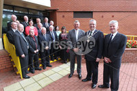 PRESS EYE-BELFAST-NORTHERN IRELAND. Conferement of the Freedom of the Borough by Dungannon and South Tyrone Council today.Darren Clarke received the freedom of his home town Dungannon during a special ceremony held in recognition of his achievements in world golf.. Dungannon Councillors. Pic : BrianThompson/Presseye.com