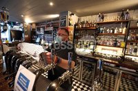 . Press Eye - Belfast - Northern Ireland - 16th October 2020. Russell Adams Bar Man Northern Lights Ormeau Road Belfast.. New Covid tighter restrictions which will come into regulatory effect today. and will be in place for a period of four weeks.. Photo by Matt Mackey / Press Eye .