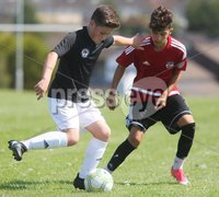 ©/Presseye.com - 9th July 2017.  Press Eye Ltd - Northern Ireland - Hughes Insurance Foyle Cup U-13 2017- GPS FC Bayern (USA) V Bertie Peacock Youth League.. Cooper Banks (GPS FC Bayern) and Josh Busteed (B Peacock YL).  . Mandatory Credit Photo Lorcan Doherty / Presseye.com