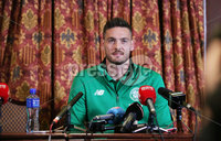 Press Eye - Belfast - Northern Ireland  - 13th July 2017 - . Celtic goalkeeper Craig Gordon at a press conference at the Culloden Hotel in Belfast ahead of their game with Linfield.. Photo by Kelvin Boyes / Press Eye..