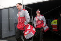 European Rugby Champions Cup Round 4, Kingspan Stadium, Belfast 15/12/2017. Ulster vs Harlequins. Ulster\'s Rob Herring and Andrew Trimble arrive. Mandatory Credit ©INPHO/Bryan Keane