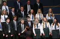 Press Eye - Belfast -  Northern Ireland - 14th December 2015 - Photo by William Cherry. Grosvenor Grammar School Choir pictured at the BBC Radio Ulster 40th Birthday gala concert at the Ulster Hall, Belfast.