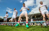 Ulster GAA Senior Football Championship Final, St Tiernach\'s Park, Clones, Co. Monaghan 16/7/2017. Down vs Tyrone. Tyrone\'s Ronan O\'Neill and team mates prepare for the team photo . Mandatory Credit ©INPHO/Morgan Treacy