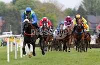 Press Eye - Belfast - Northern Ireland - 7th May 2018  - . May Day Meeting at Down Royal Racecourse.. PAT O\'HARE BOOKMAKERS MAIDEN HURDLE . Canardier, ridden by Andrew Lynch wins the first race.. Photo by Kelvin Boyes / Press Eye .