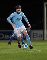 Danske Bank Premiership, Showgrounds, Ballymena.. 16/2/2021. Ballymena United  FC vs Coleraine FC . Ballymena United Conor Keeley against Coleraine  during Tuesday night\'s Danske Bank Premiership match at Ballymena Showgrounds.. Mandatory Credit  INPHO/Brian Little