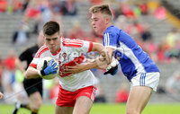 Ulster GAA Minor Football Championship Final, St Tiernach\'s Park, Clones, Co. Monaghan 16/7/2017. Derry vs Cavan. Derry\'s Simon McEralin with Cian Madden of Cavan. Mandatory Credit ©INPHO/Morgan Treacy