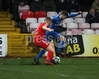 Danske Bank Premiership, Solitude, Belfast 1/12/2018 . Cliftonville vs Dungannon Swifts. Levi Ives Cliftonville and Ryan Harpur Dungannon. Mandatory Credit INPHO/Freddie Parkinson