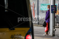 Press Eye - Belfast - Northern Ireland - 29th June 2020. Commuters and shoppers wearing face masks while using Northern Ireland Railway services. . Photo by Philip Magowan / Press Eye