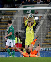 Press Eye - Belfast, Northern Ireland - 16th November 2019 - Photo by William Cherry/Presseye. Northern Ireland\'s Bailey Peacock-Farrell during Saturday nights UEFA Euro 2020 Qualifier at the National Stadium, Belfast.     Photo by William Cherry/Presseye