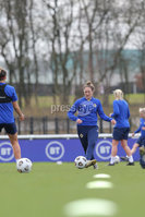 PressEye - Belfast - Northern Ireland - 22nd February 2021. Northern Ireland\'s Rebecca Holloway during Monday afternoons training session ahead of Tuesday\'s Womens Friendly International against England at St George\'s Park, England. . Picture: Philip Magowan / Press Eye