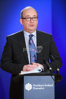 Press Eye - Belfast - Northern Ireland - 13th January 2021. Chief Medical Officer Dr Michael McBride  addresses the media during a press conference at Parliament Buildings, Stormont.. Picture by Kelvin Boyes / Press Eye.
