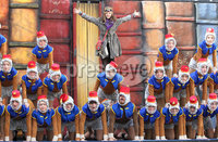 @Press Eye Ltd Northern Ireland -3rd May    2012. Mandatory Credit - Brian Little/ Presseye.com.  \'Chip\' , Ella Lyttle (11)  with the cast of \'Flying Monkeys\' during rehersals for Journey to the Land of Giants which is the opening show of the Festival of Fools, at Saint Anne\'s Square.. . . . . . . . . . . . . . . . . . . . . . . . . . . . . . . . . . . . . . . . .  . . . . . . . . . . . . .