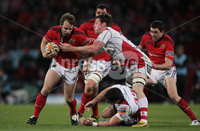 RaboDirect PRO 12, Thomond Park, Limerick 5/5/2012. Munster vs Ulster. Munster\'s Tomas O\'Leary is tackled by Ali Birch of Ulster. Mandatory Credit ©INPHO/Cathal Noonan