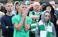 Press Eye - Belfast - Northern Ireland - 14th July 2017 . Celtic fans pictured at The Devenish fanzone in West Belfast as they watch Linfield v Celtic at Windsor Park, Belfast in their first Champions League game.. Picture by Matt Mackey / presseye.com.