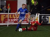 Danske Bank Premiership, Solitude, Belfast 1/12/2018 . Cliftonville vs Dungannon Swifts. Jarlath O\'Rourke Dungannon and Thomas Maguire Cliftonville. Mandatory Credit INPHO/Freddie Parkinson