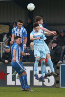 Danske Bank Premiership, Milltown Stadium, Warrenpoint, Co. Down, Northern Ireland 16/11/2019. Warrenpoint Town vs Coleraine. Warrenpoint\'s Conall Young in action with  of Coleraine Aaron Traynor. Mandatory Credit INPHO/Matt Mackey
