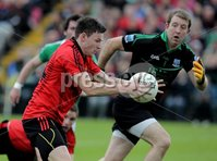 Presseye Northern Ireland - 03rd June 2012 Mandatory Credit - Photo-William Cherry/Presseye. Fermanagh\'s Ronan Gallagher with Down\'s Donal O\'Hare during Sundays Ulster Senior  Championship Quarter Final at Brewster Park, Enniskillen.