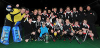 Mandatory Credit: Rowland White/Presseye. Hockey: Super 9\'s Finals. Presentation of the AndersonCup. Venue: Banbridge. Date: 25th April 2012. Caption: The victorious Dale Dragons Team