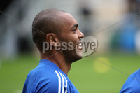 Press Eye - Belfast, Northern Ireland - 01st September 2020 - Photo by William Cherry/Presseye. Northern Ireland\'s Josh Magennis during Tuesday mornings training session at the National Stadium at Windsor Park, Belfast ahead of Friday nights Nations League game in Romania.    Photo by William Cherry/Presseye