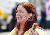 Press Eye - Belfast - Northern Ireland - 23rd June 2018. UK freedom march and protest along with United Against Racism counter-protest at Belfast City Hall. . Belfast City Council Cllr Jolene Bunting, who helped organise the UK freedom march, pictured at the parade. . Picture by Jonathan Porter/PressEye