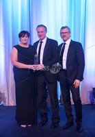 Press Eye - Belfast - Northern Ireland - 6th February 2017 -  . Belfast Telegraph Sports Awards 2016.. Award 11 - Manager/Coach of the Year award. Northern Ireland Manager Michael O'Neill picked up the Manager/Coach of the Year award,  sponsored by Active Financial Life. It was awarded by Breeda Toner, Financial Advisor with Active Financial Life and Les Kiss from Ulster Rugby..  . Photo by Kelvin Boyes / Press Eye..