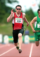Woodie's DIY AAI Senior Track & Field Championships, Morton Stadium, Dublin 7/8/2011. Ireland\'s Jason Smyth on his way to winning the Men\'s 100m Final. Mandatory Credit ©INPHO/Paul Railton