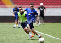 Press Eye - Belfast -  Northern Ireland - 02nd June 2018 - Photo by William Cherry/Presseye. Northern Ireland\'s Corry Evans and Jordan Thompson pictured during Saturday mornings training session at the Nuevo Estadio Nacional de Costa Rica in San Jose ahead of Sundays Friendly International against Costa Rica.. Photo by William Cherry/Presseye
