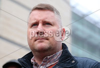 Press Eye - Belfast - Northern Ireland - 10th January 2018. Britain First leader Paul Golding leaves Belfast Magistrates Court where he was appearing after being charged with making a hate speech at Belfast City Hall last summer.  See copy by Alan Erwin/Laganside  Media. . Picture by Jonathan Porter/PressEye