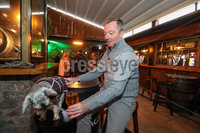 Press Eye - Belfast - Northern Ireland - 10th October 2020. New coronavirus restrictions come into force on Friday evening.. Punters make the most of the last few hours. . Gary Dinsmore along with Tricksy in the Thirsty Goat. Picture by Matt Mackey / Presseye.