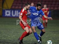 Danske Bank Premiership, Solitude, Belfast 1/12/2018 . Cliftonville vs Dungannon Swifts. Jamie Harney Cliftonville and Jonathan Lafferty Dungannon . Mandatory Credit INPHO/Freddie Parkinson
