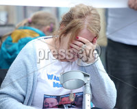 Press Eye Belfast - Northern Ireland 7th October 2017. Mental health march in Belfast city centre organised by campaigner Philip McTaggart, who lost his son Philip to suicide in 2003.  The march follows the death of 31-year-old Stephen Ferrin who died in September. He had previously lost his two brothers to suicide.  Stephen Ferrin\'s mother Patricia pictured at the march. . Picture by Jonathan Porter/PressEye.com.