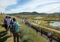 2018 Dubai Duty Free Irish Open - Day 1, Ballyliffin Golf Club, Co. Donegal 5/7/2018. Fans look on at the seventh green. Mandatory Credit ©INPHO/Oisin Keniry