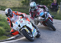 PressEye-Northern Ireland- 9th August 2018-Picture by Brian Little/ Double Red. Ulster Grand Prix  . Conor Cummins Padgetts Motorcycles Honda 600cc leads Adam McLean 600cc Kawasaki during Lisburn &Castlereagh City Council 600 Supersport Race  for the Ulster Grand Prix races around the Dundrod 7.4 mile circuit. . Picture by Brian Little/Double Red