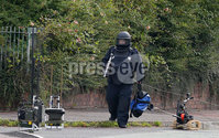 Press Eye - Belfast - Northern Ireland - 21st August 2019. The scene on the Springfield Road in west Belfast where a security alert is underway. . Picture by Jonathan Porter/PressEye