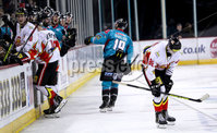 Press Eye - Belfast -  Northern Ireland - 11th January 2019 - Photo by William Cherry/Presseye. Belfast Giants Colin Shields celebrates scoring against HK Gomel during Friday nights Continental Cup Final game at the SSE Area, Belfast.   Photo by William Cherry/Presseye