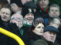 29/02/20. Sadlers Peaky Blinders Irish Cup Quarter final between Glentoran  and Crusaders at the Oval Belfast. FIFA President Gianni Infantino pictured at todays game. Mandatory Credit - Inpho/Stephen Hamilton.