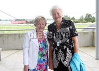 Press Eye © Belfast - Northern Ireland. Photo by Freddie Parkinson / Press Eye ©. Friday 8 September 2017. West Coast Cooler Race Evening at Down Royal Racecourse. Georgina McCluskey and Dame Mary Peters