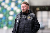 Danske Bank Premiership, National Football Stadium at Windsor Park, Belfast, Northern Ireland 17/10/2020. Linfield vs Carrick Rangers. Carrick Rangers manager Niall Currie. Mandatory Credit INPHO/Declan Roughan