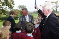 PRESS EYE-BELFAST-NORTHERN IRELAND. Conferement of the Freedom of the Borough by Dungannon and South Tyrone Council today.Darren Clarke received the freedom of his home town Dungannon during a special ceremony held in recognition of his achievements in world golf.. Darren is joined by local school children. Pic : BrianThompson/Presseye.com