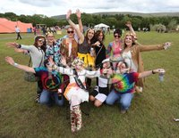 ©Lorcan Doherty Photography - 12th August 2017 . Stendhal Festival 2017. Marion Donaghy, from Dungiven, enjoying her Hen Night with friends at the festival.. Photo by Lorcan Doherty / Press Eye..
